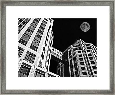 Moon Over Twin Towers 2 Framed Print by Samuel Sheats