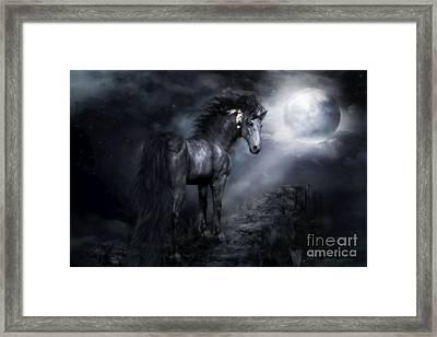 Moon Shadow Framed Print by Shanina Conway