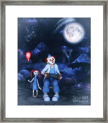 Moon Song Framed Print by Jutta Maria Pusl