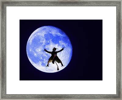 Moon Splat Framed Print by Steve Ohlsen