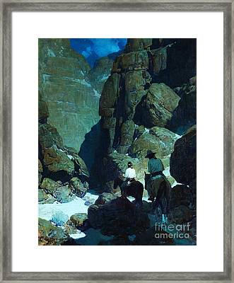 Moonlight Canyon Framed Print by Pg Reproductions