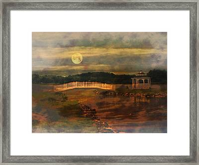 Moonlight Stroll Framed Print by Kathy Jennings
