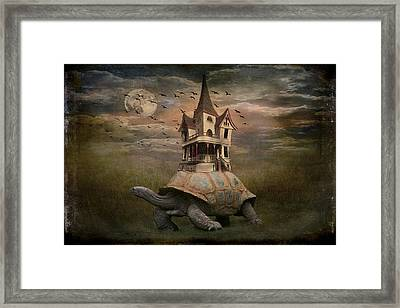 Moonlight Traveler Framed Print by Marie  Gale