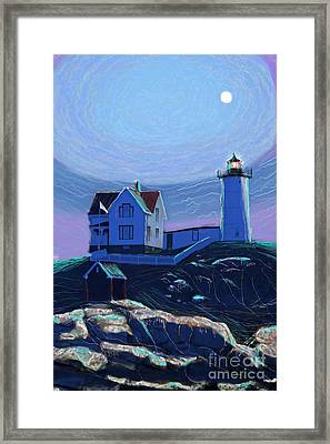 Moonlit Nubble Framed Print by Earl Jackson
