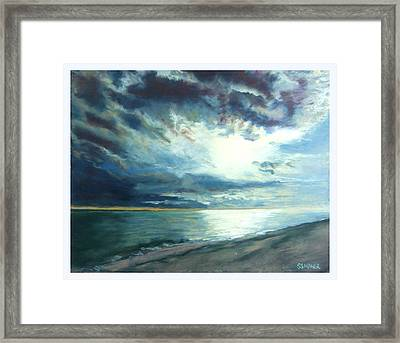Moonlit Sea Framed Print by Sue Gardner