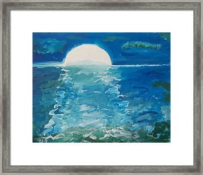 Moonlite Sinatra Framed Print by Jay Manne-Crusoe