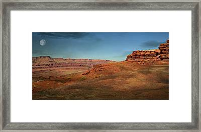 Moonrise On The Mesa Framed Print by Marty Koch