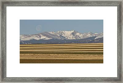 Moons Set On The Colorado Plains Framed Print by James BO  Insogna