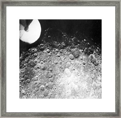 Moon's Surface, Zond 3 Image Framed Print by Ria Novosti