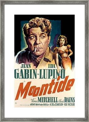 Moontide, Jean Gabin, Ida Lupino, 1942 Framed Print by Everett