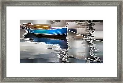 Moored Framed Print by Alice Gipson