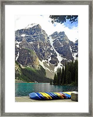 Moraine Lake Framed Print by Lisa Phillips