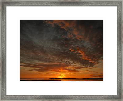 Morecambe Sunset Framed Print by Christopher Mercer