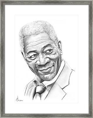 Morgan Freeman Framed Print by Murphy Elliott