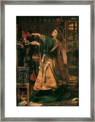 Morgan-le-fay Framed Print by Frederick Sandys