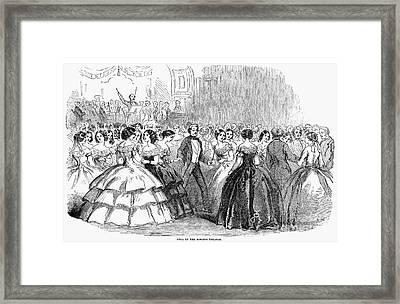 Mormon Ball, 1857 Framed Print by Granger