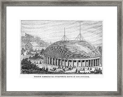 Mormon Tabernacle, 1870 Framed Print by Granger