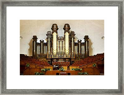 Mormon Tabernacle Framed Print by Marilyn Hunt