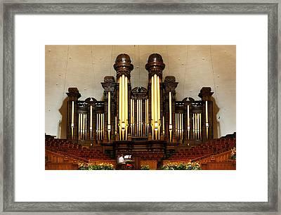 Mormon Tabernacle Pipe Organ Framed Print by Marilyn Hunt