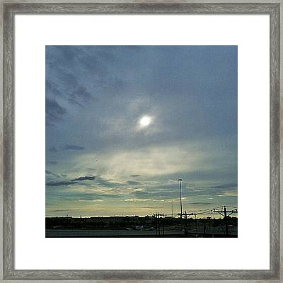 #morning #andrography #nexuss #clouds Framed Print by Kel Hill