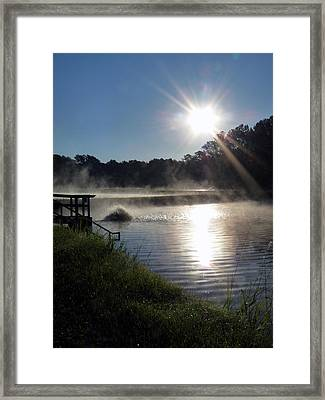 Morning At The Fish Hatchery Framed Print by Terry Eve Tanner