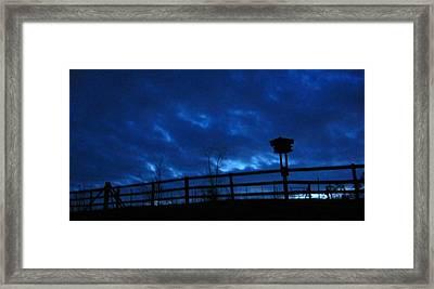 Morning Blues Framed Print by Deb Martin-Webster