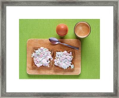 Morning Breakfast Framed Print by P. Langen