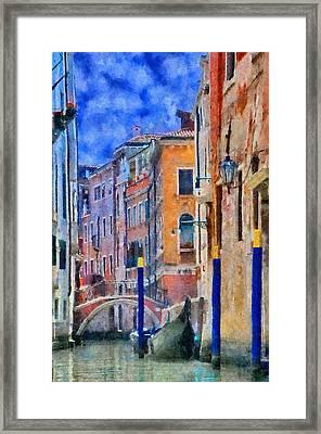 Morning Calm In Venice Framed Print by Jeff Kolker