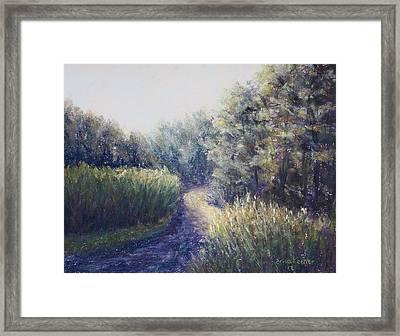 Morning Drive Framed Print by Erica Keener