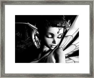 Morning Fairy Bw Framed Print by Alexander Butler