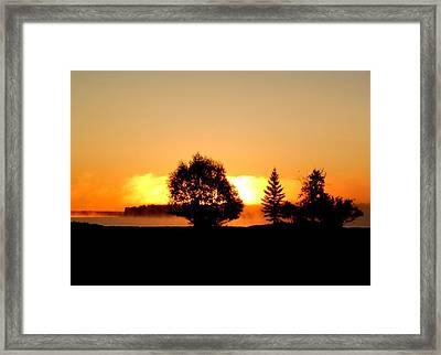 Morning Fog Framed Print by Jonathan Lagace