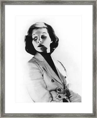 Morning Glory, Katharine Hepburn, 1933 Framed Print by Everett