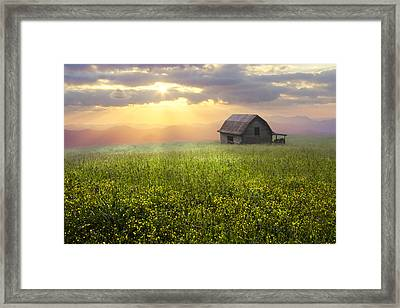 Morning Has Broken Framed Print by Debra and Dave Vanderlaan