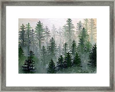 Morning In The Mountains Framed Print by Shana Rowe Jackson