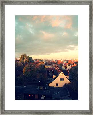 Morning In The Town Framed Print by German Savchishen