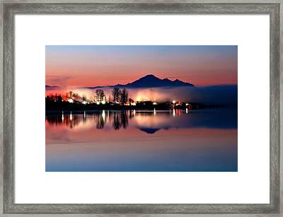 Morning Light And Fog Framed Print by Detlef Klahm