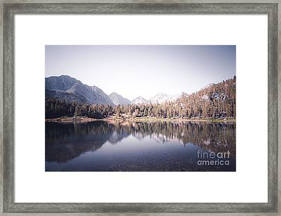 Morning Light At Heart Lake Framed Print by Alexander Kunz