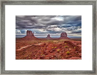 Morning Light At Monument Valley Framed Print by Brian Stamm