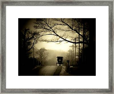 Morning Ride Framed Print by Michael L Kimble