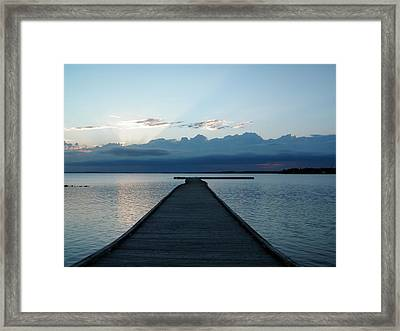 Morning Sunrise A Framed Print by Jonathan Lagace