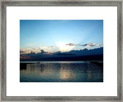 Morning Sunrise Storm Framed Print by Jonathan Lagace