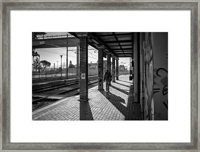 Morning Train Framed Print by Michael Avory