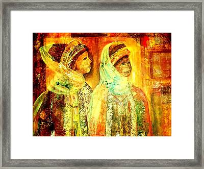 Moroccan Women Collage Framed Print by Patricia Rachidi