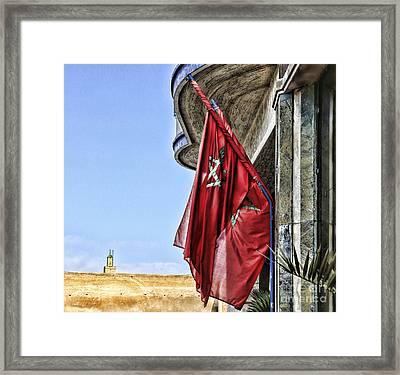 Morocco Flag I Framed Print by Chuck Kuhn