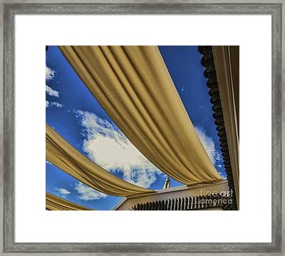 Morocco Riad I Framed Print by Chuck Kuhn