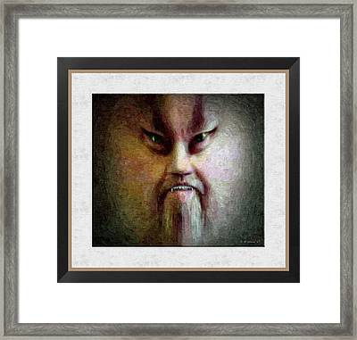 Morph - Oil Painting Effect Framed Print by Brian Wallace