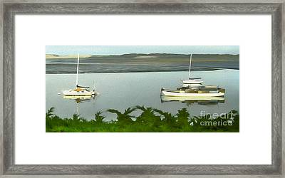 Morro Bay Sail Boats Framed Print by Gregory Dyer