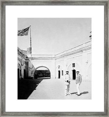 Morro Castle - Interior - San Juan - Puerto Rico - C 1900 Framed Print by International  Images