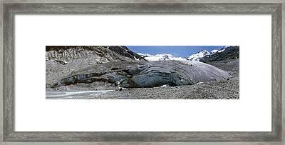 Morteratsch Glacier, Switzerland Framed Print by Dr Juerg Alean