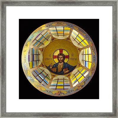 Mosaic Christ Framed Print by Mike Penney